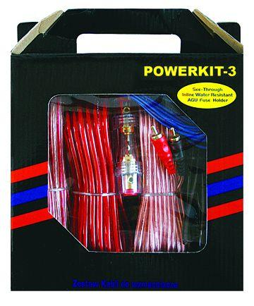 OEM 4GA Car Audio Amplifier Wire Power Cable Kit With Colour Box