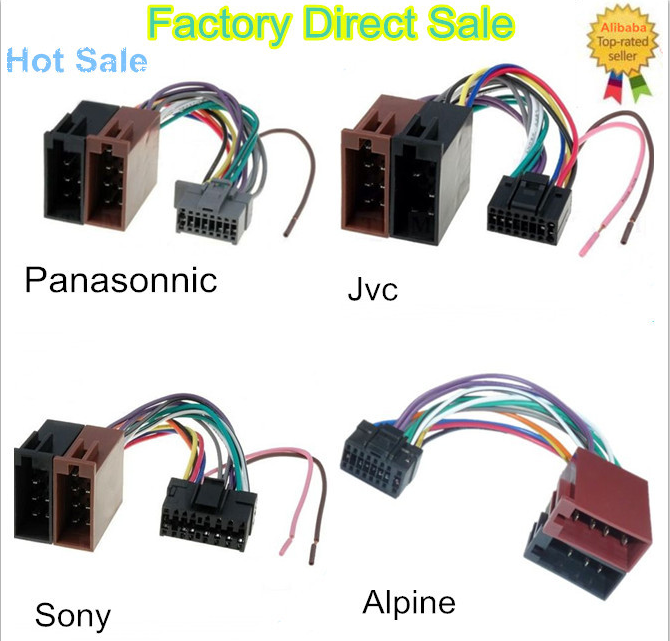 20160307144929_19836 to 24awg gauge iso automotive wiring harness radio cable male car wiring harness connectors at bayanpartner.co