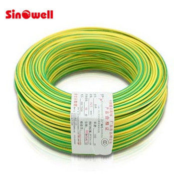 Copper Conductor Stranded Electric Wire Cable , Green Yellow Ground ...
