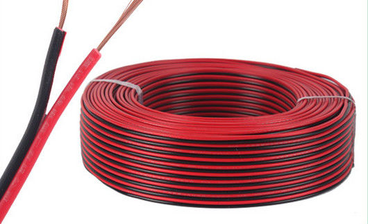 Red And Black Copper Electric Wire Cable , Parallel Spt Twin Flat ...
