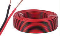 Red And Black Copper Electric Wire Cable , Parallel Spt Twin Flat Wire Speaker Cable